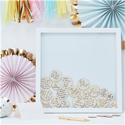Pick & Mix Pastel Drop Top Frame Guest Book - 36cm