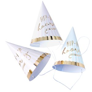 Pick & Mix Pastel 'Hip Hip Hooray' Cone Hats