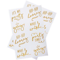 Pick & Mix Pastel Gold Foiled Temporary Tattoos