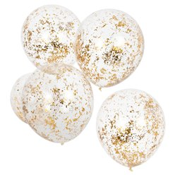 "Gold Shredded Confetti Balloons - 12"" Latex"