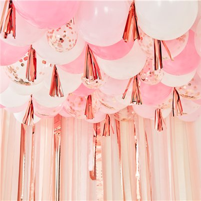 Pink Blush Balloon Ceiling Kit - 160 pieces