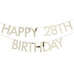 Gold Customisable Happy Birthday Bunting