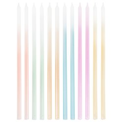 Tall Ombre Pastel Candles