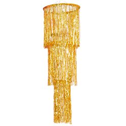 Gold Fringe Chandelier