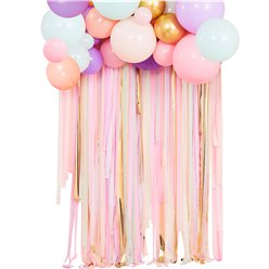Pastel & Gold Balloon Garland Decorating Kit