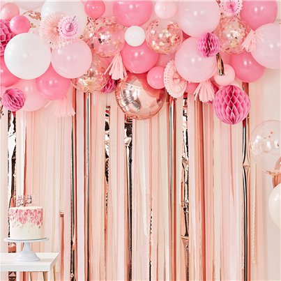 Pink Balloon Garland Decorating Kit