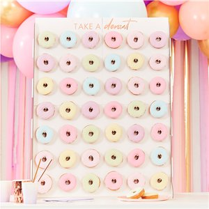 Pink & Rose Gold Donut Wall