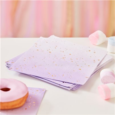 Gold & Lilac Ombre Napkins