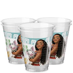 Disney Moana Cups - 200ml Plastic Party Cups