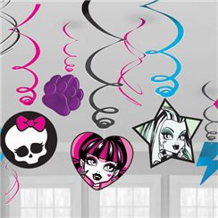 Monster High Hanging Decorations - 60cm Hanging Swirls