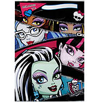 Monster High Party Bags - Plastic Loot Bags With Name Space