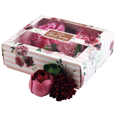 Luxury Boxed Scented Pink Floral Soaps