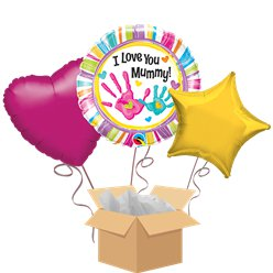 I Love You Mummy Balloon Bouquet - Delivered Inflated