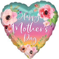 "Flowers & Ombre Mother's Day Balloon - 28"" Foil"