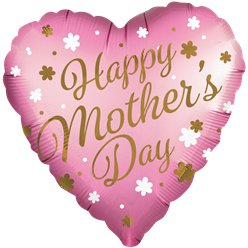 "Happy Mother's Day Heart Balloon - 31"" Foil"