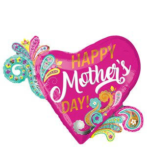"Happy Mother's Day Paisley Supershape Balloon - 32"" Foil"