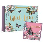 With Love Gift Bag, Greeting Card & Tissue Paper - 37cm