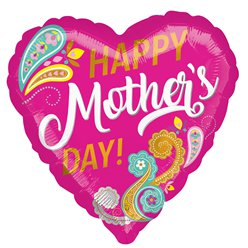 "Happy Mother's Day Paisley Balloon - 18"" Foil"