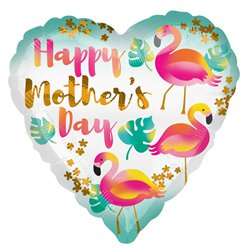 "Happy Mother's Day Flamingo Balloon - 18"" Foil"