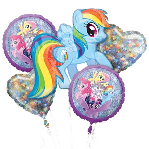 My Little Pony Holographic Balloon Bouquet - Assorted Foil