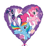 "My Little Pony Heart Shaped Balloon - 18"" Foil"