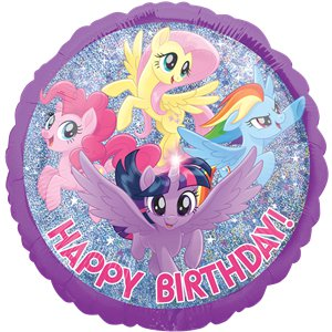 My Little Pony Holographic Happy Birthday Balloon - 18