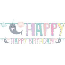 Narwhal Party Time Letter Banner - 2m