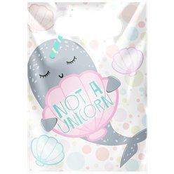 Narwhal Plastic Party Bags