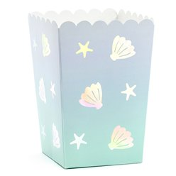 Narwhal Shell Popcorn Boxes - 12.5cm