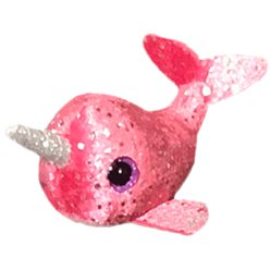 TY Nelly Pink Narwhal Teeny Tys Toy