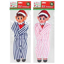 Naughty Elf Striped Pyjamas