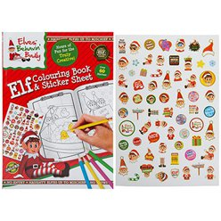 Naughty Elf Large Colouring Book with Stickers