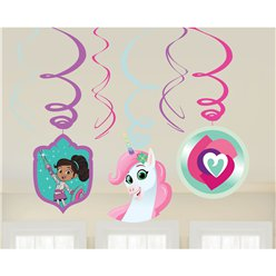 Nella The Princess Knight Hanging Swirl Decorations - 60cm