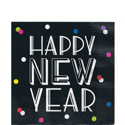 Neon Dots New Year Lunch Napkin