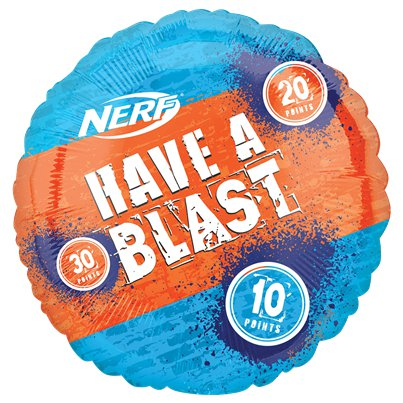 "Nerf Party Jumbo Foil Balloon - 20"" Foil"