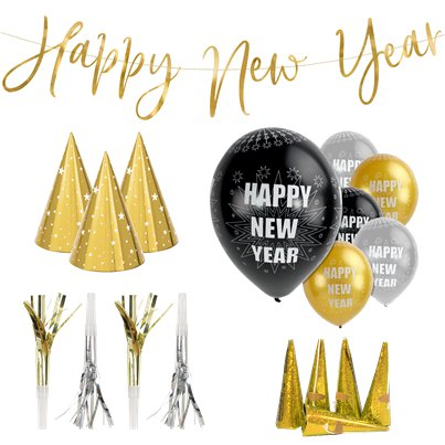 New Year Gold Party Kit