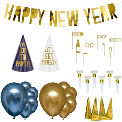 New Year Navy & Gold Party Kit