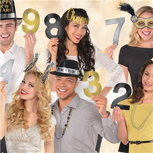 New Year's Countdown Photo Props