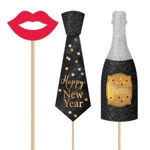 New Year Photo Props Party Kit