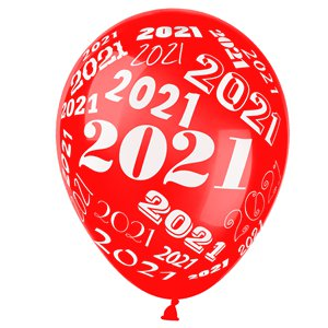 New Year 2021 Assorted Balloons - 12