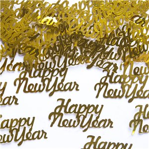 Happy New Year Gold Foil Confetti - 3g