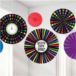 Colourful New Year Paper Fans - 40cm