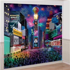 Times Square New Year's Eve Wall Decoration Kit - 2.5m