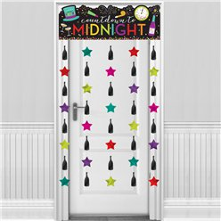 Colourful New Year's Eve Door Curtain - 1.9m