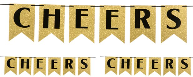 New Year Cheers Glitter Bunting - 1.9m