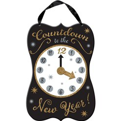 New Year's Eve Countdown Hanging Sign