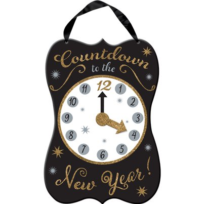New Year Countdown Hanging Sign