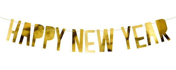 Happy New Year Letter Banner - 90cm