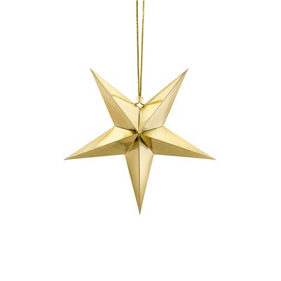 Gold Hanging Star - 30cm