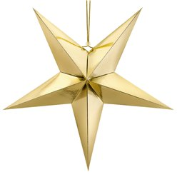 Gold Hanging Star - 70cm